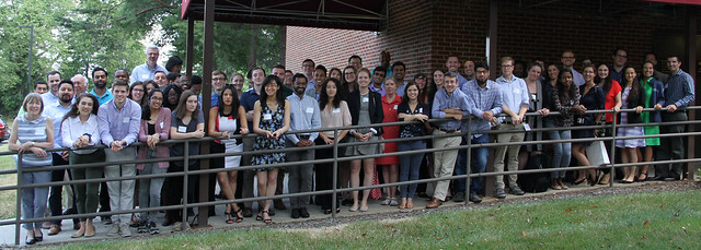 students and faculty at annual retreat